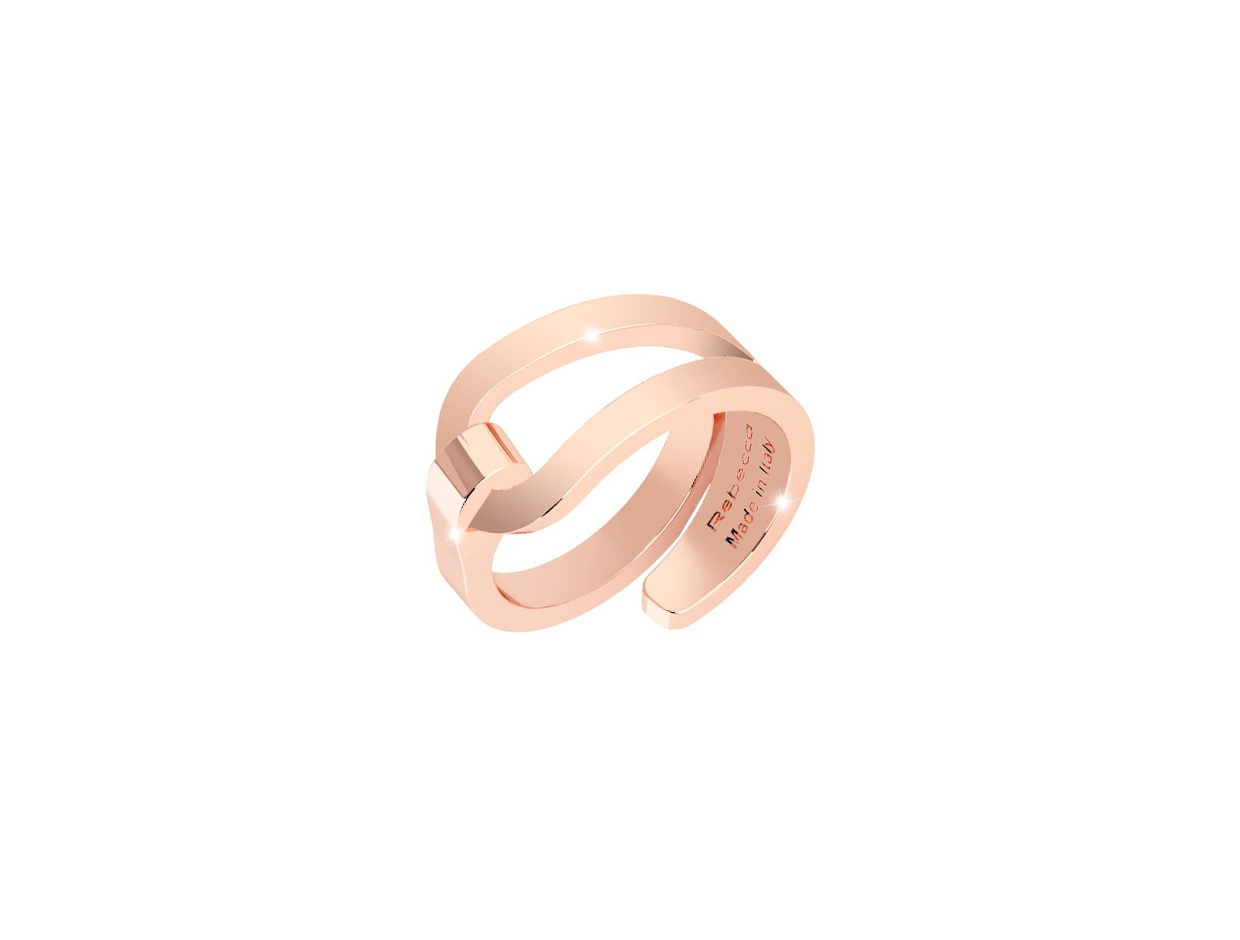"""Image of """"REBECCA Iconic ring in rose gold stainless steel, BICABR01"""""""