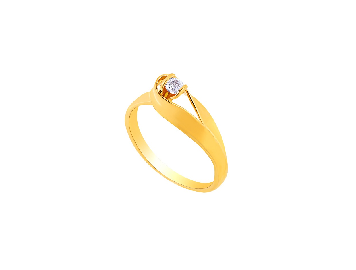 """Image of """"""""Lonely Star"""" gold ring K9"""""""