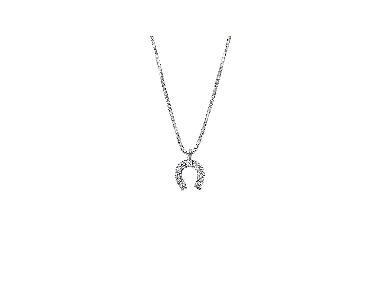 """Image of """"""""Lucky Horseshoe"""" silver necklace"""""""
