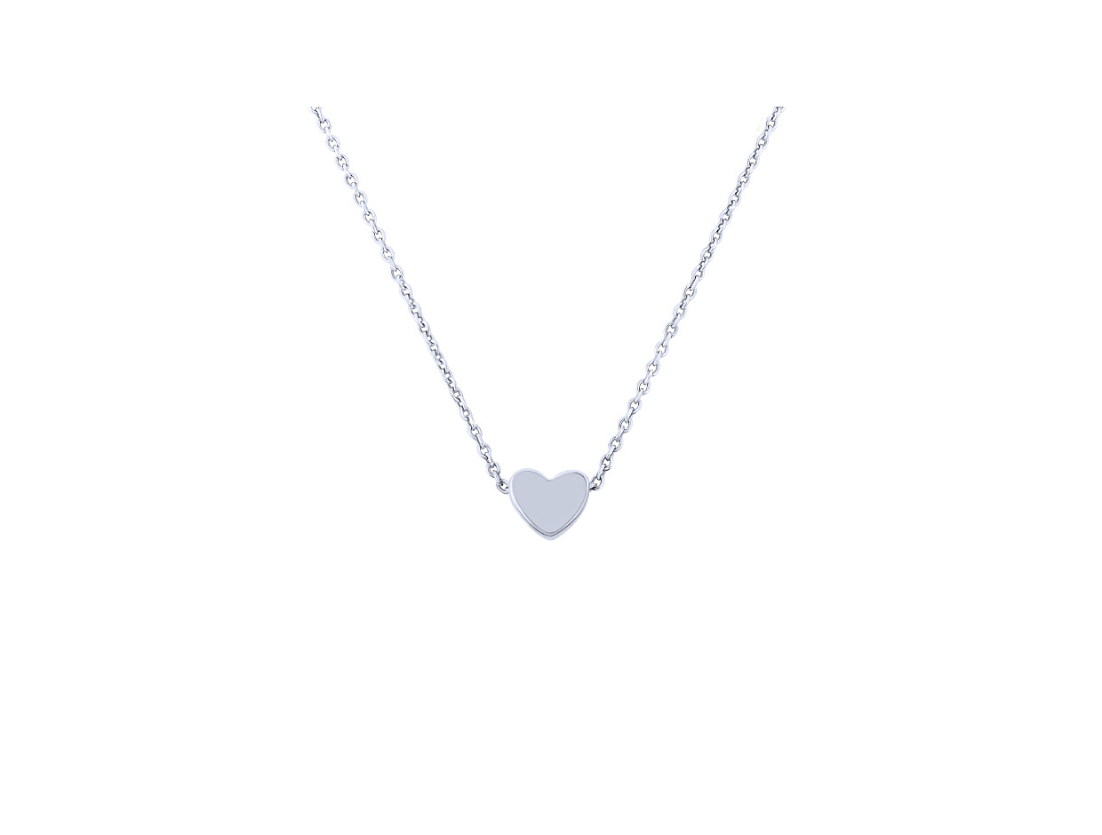 """Image of """"""""Festive Heart"""" silver necklace"""""""