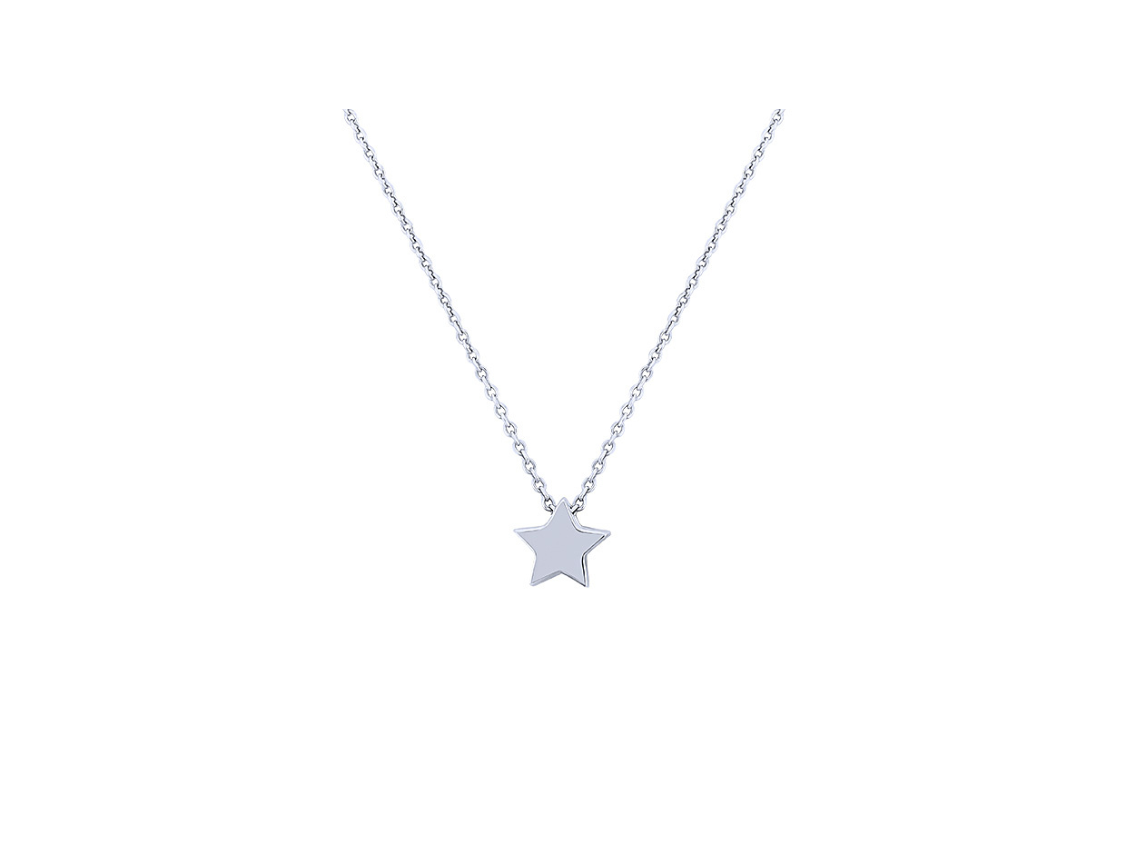 "Image of """"Festive Star"" silver necklace"""