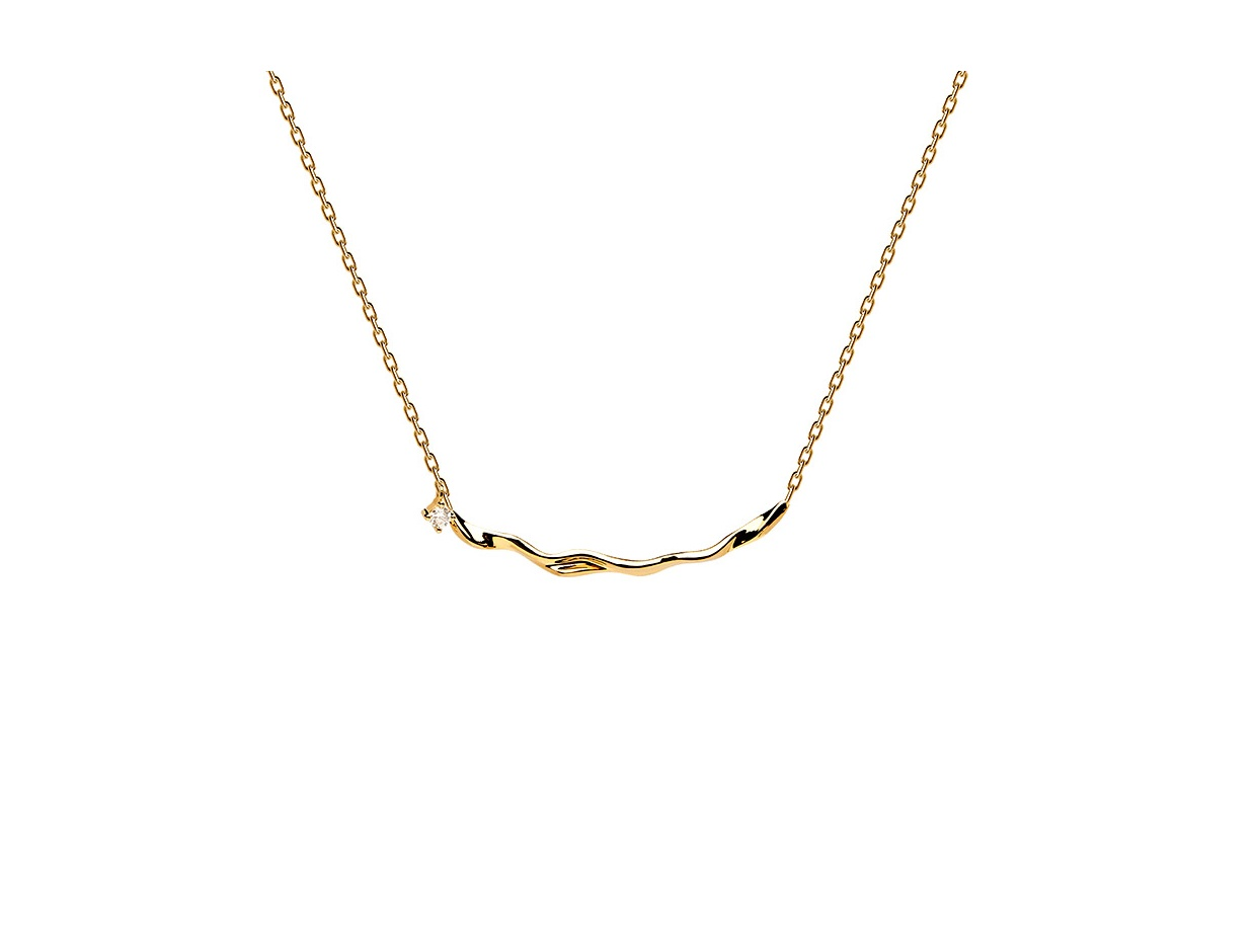"""Image of """"PDPAOLA """"Haru"""" silver necklace gold plated, CO01-081-U"""""""