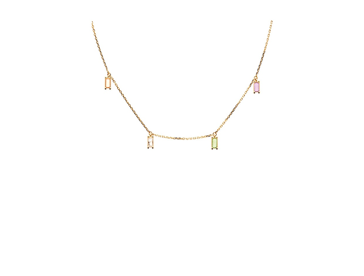 "Image of ""PDPAOLA ""Elija"" silver necklace gold plated"""