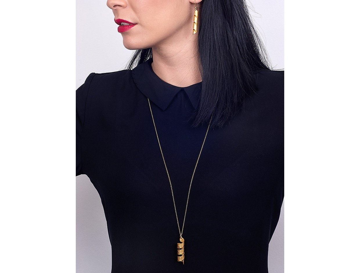 """Image of """"""""Wild River"""" silver necklace gold plated"""""""