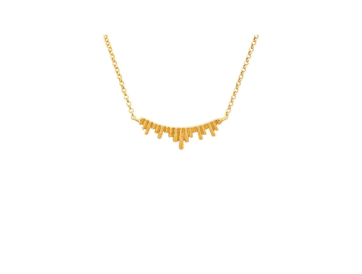 """Image of """"""""Ventalia #1"""" silver necklace gold plated"""""""
