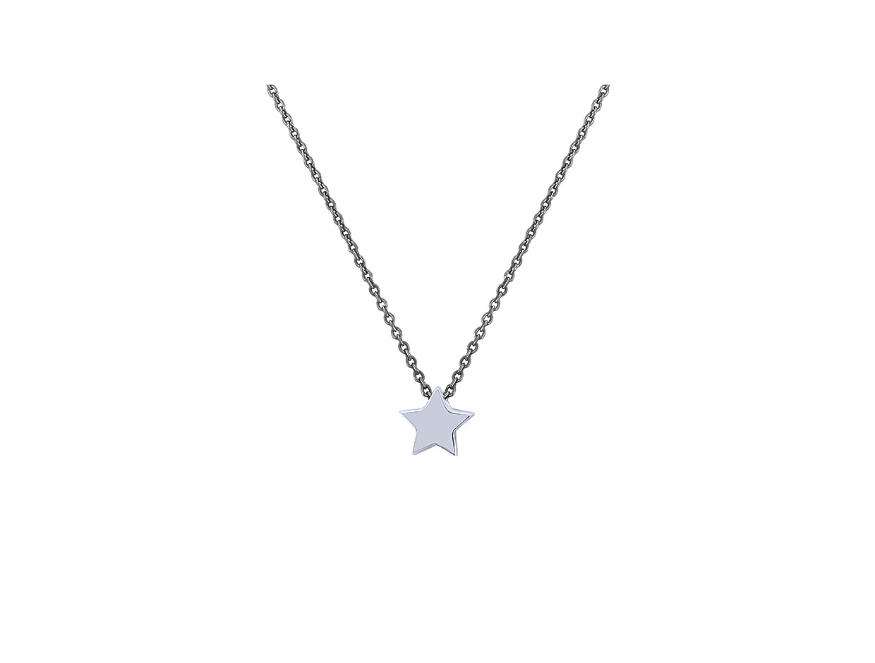 """Image of """"""""Festive Star"""" #1 silver necklace black rhodium plated"""""""