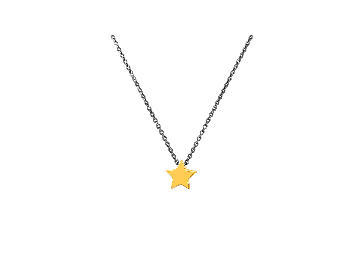 """Image of """"""""Festive Star"""" #2 silver necklace black rhodium plated"""""""