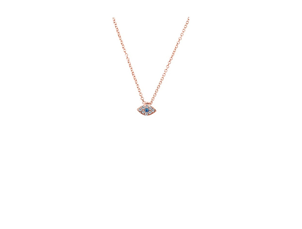 "Image of """"Tiny Glow"" rose gold necklace K14"""