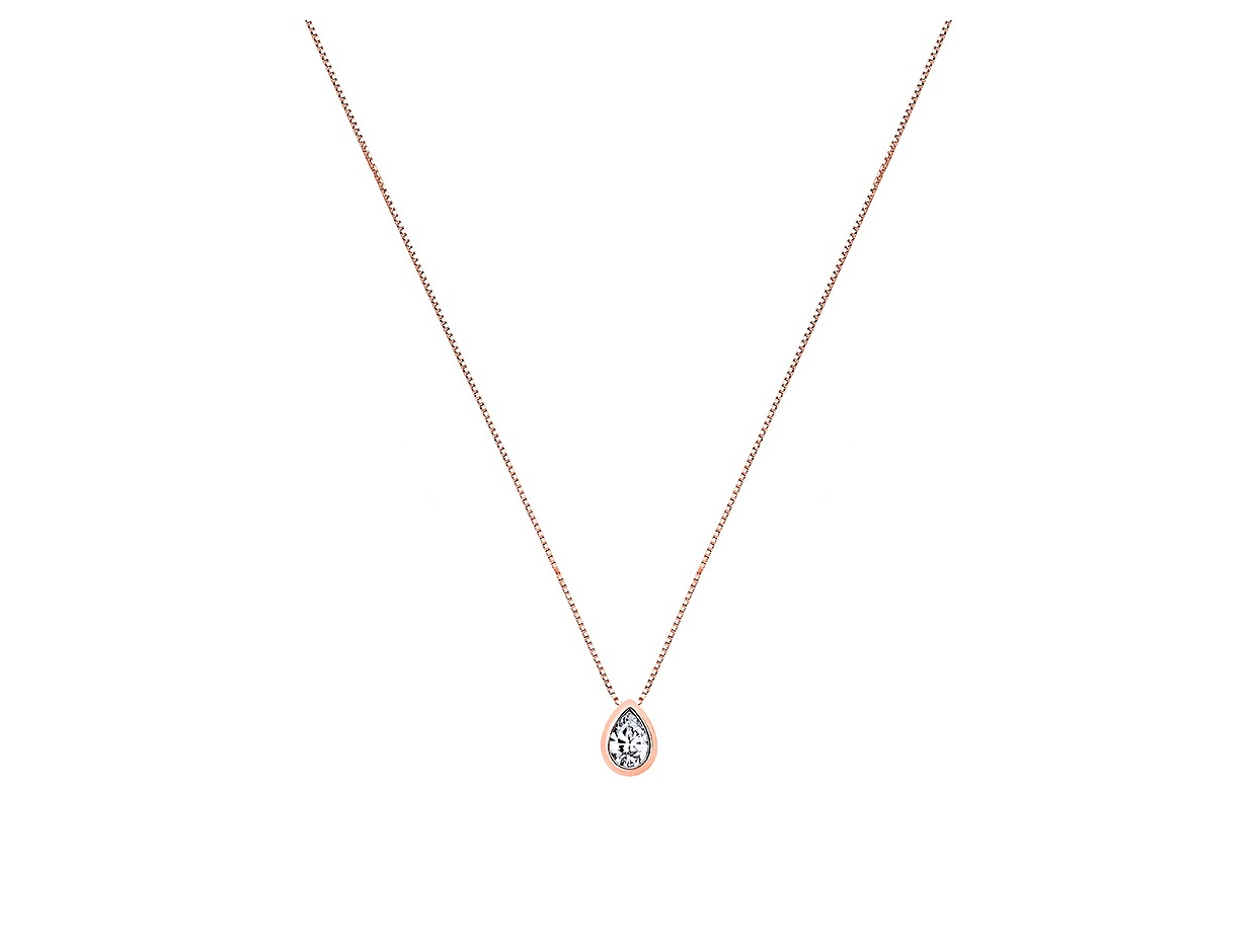 """Image of """"""""Lonely Tear #1"""" silver necklace rose gold plated"""""""