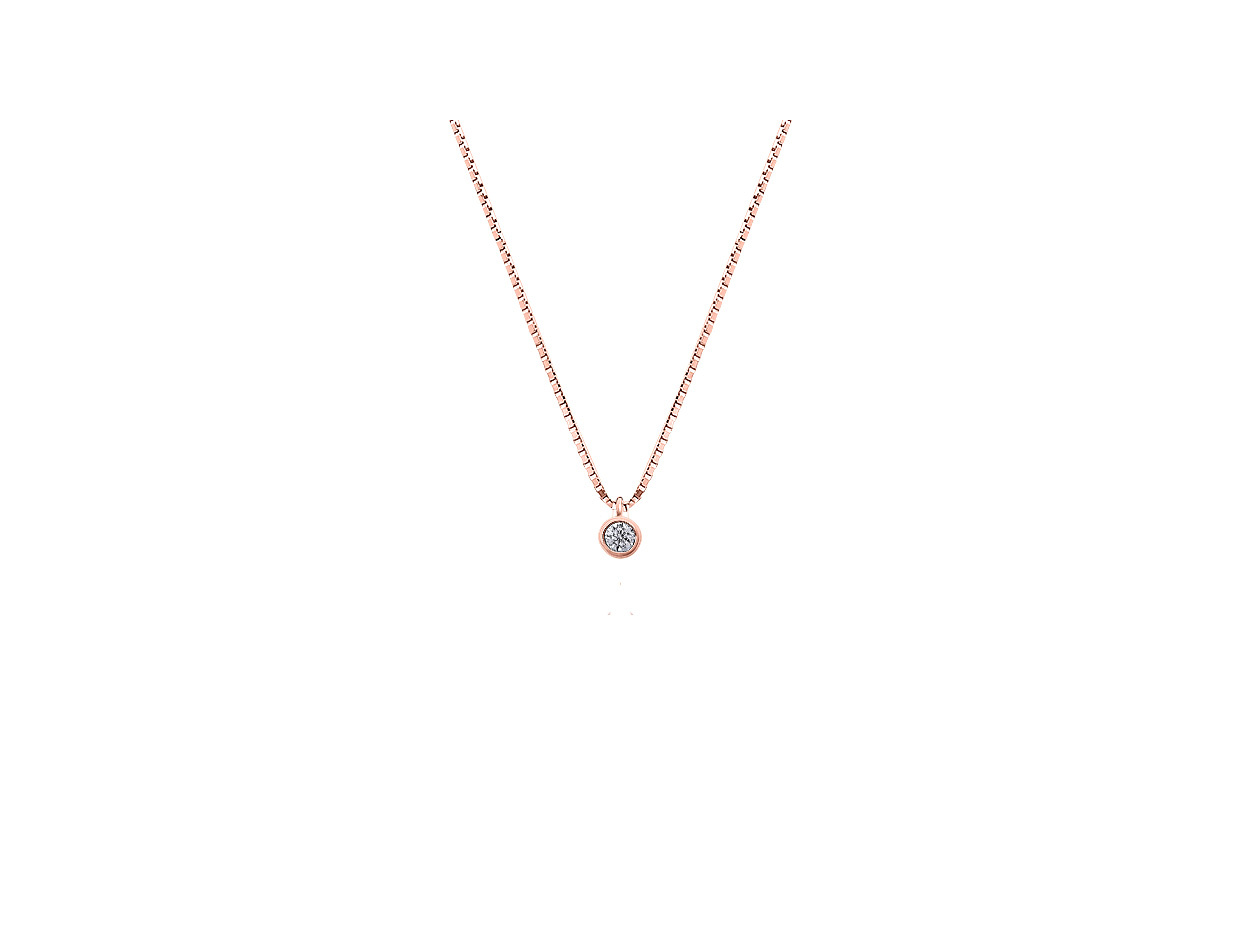 """Image of """"""""Fancy"""" silver necklace rose gold plated"""""""