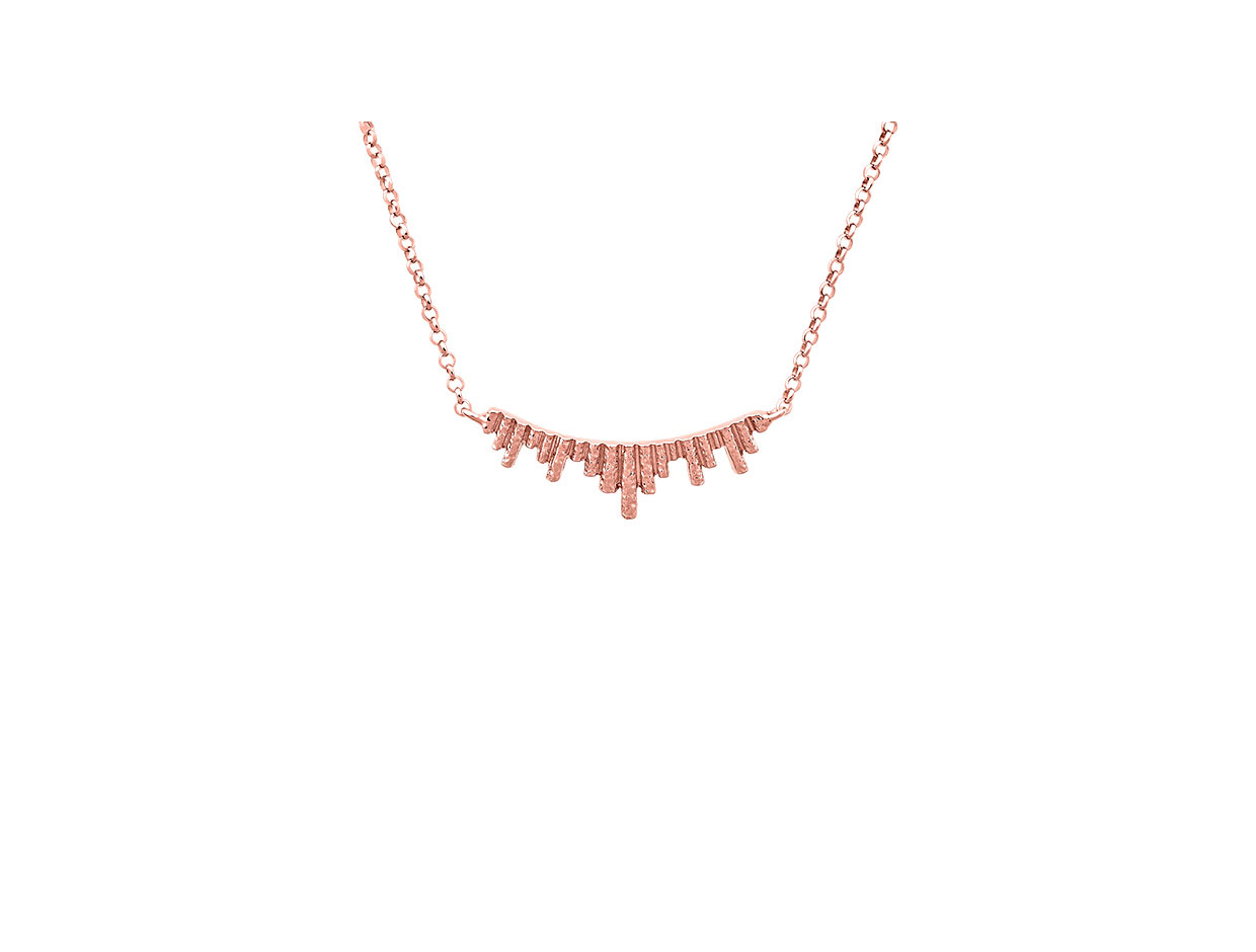 """Image of """"""""Ventalia #1"""" silver necklace rose gold plated"""""""