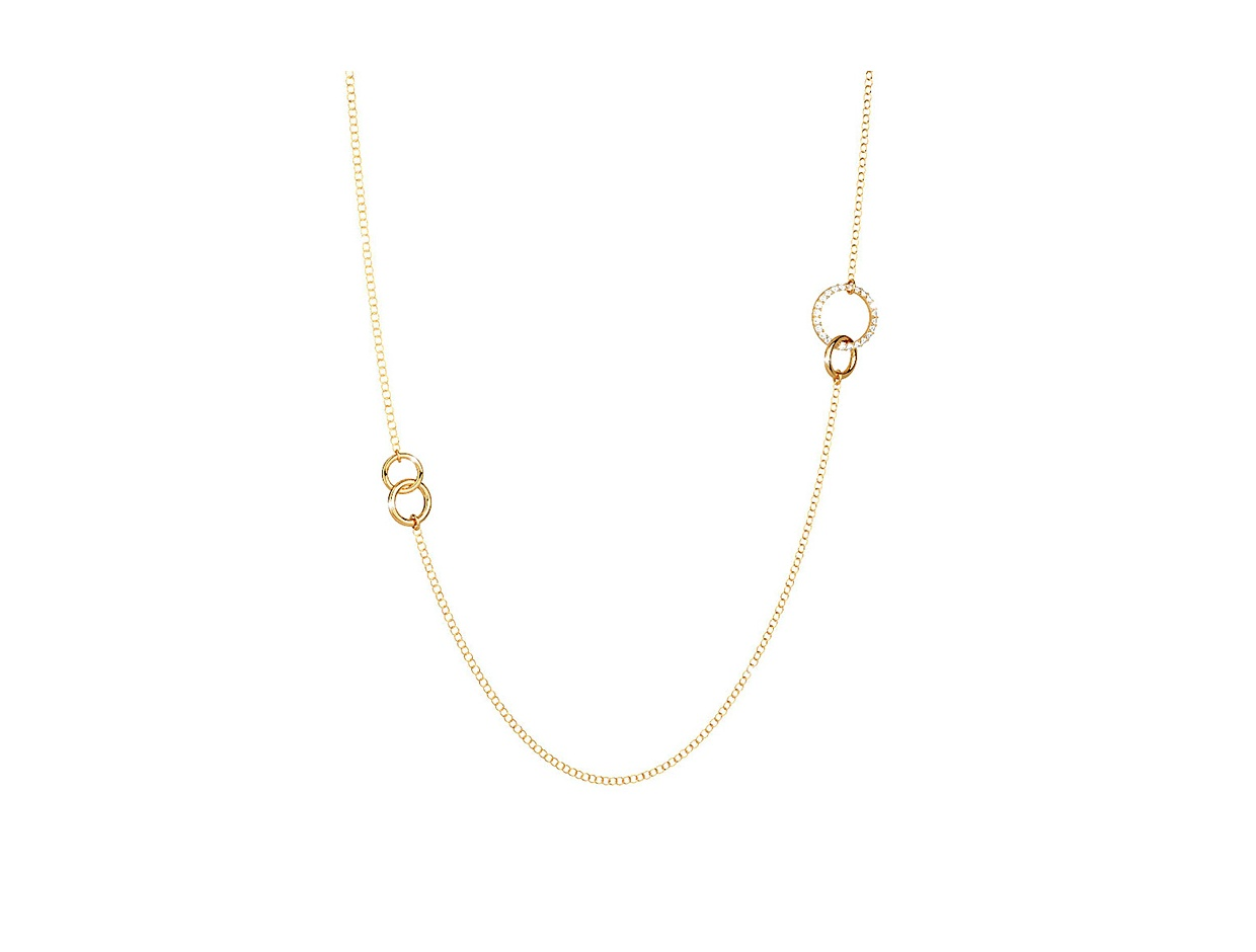 "Image of ""REBECCA Aria necklace in gold stainless steel, BARKBO09"""