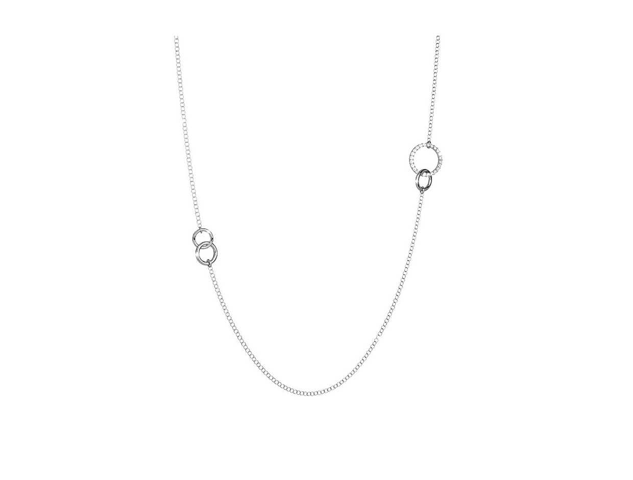 "Image of ""REBECCA Aria necklace in silver stainless steel, BARKBB09"""