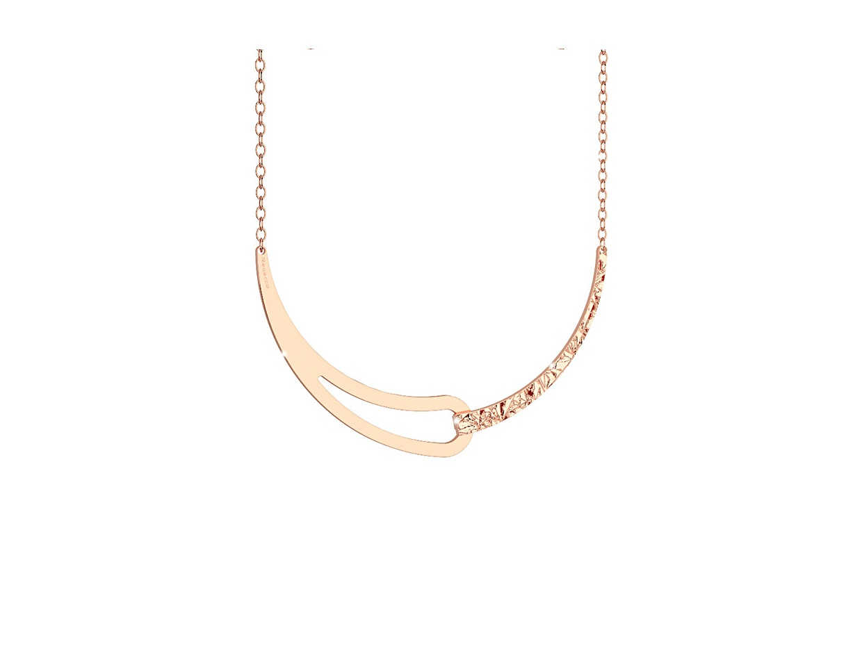 "Image of ""REBECCA Iconic necklace in rose gold stainless steel, BICKBR06"""