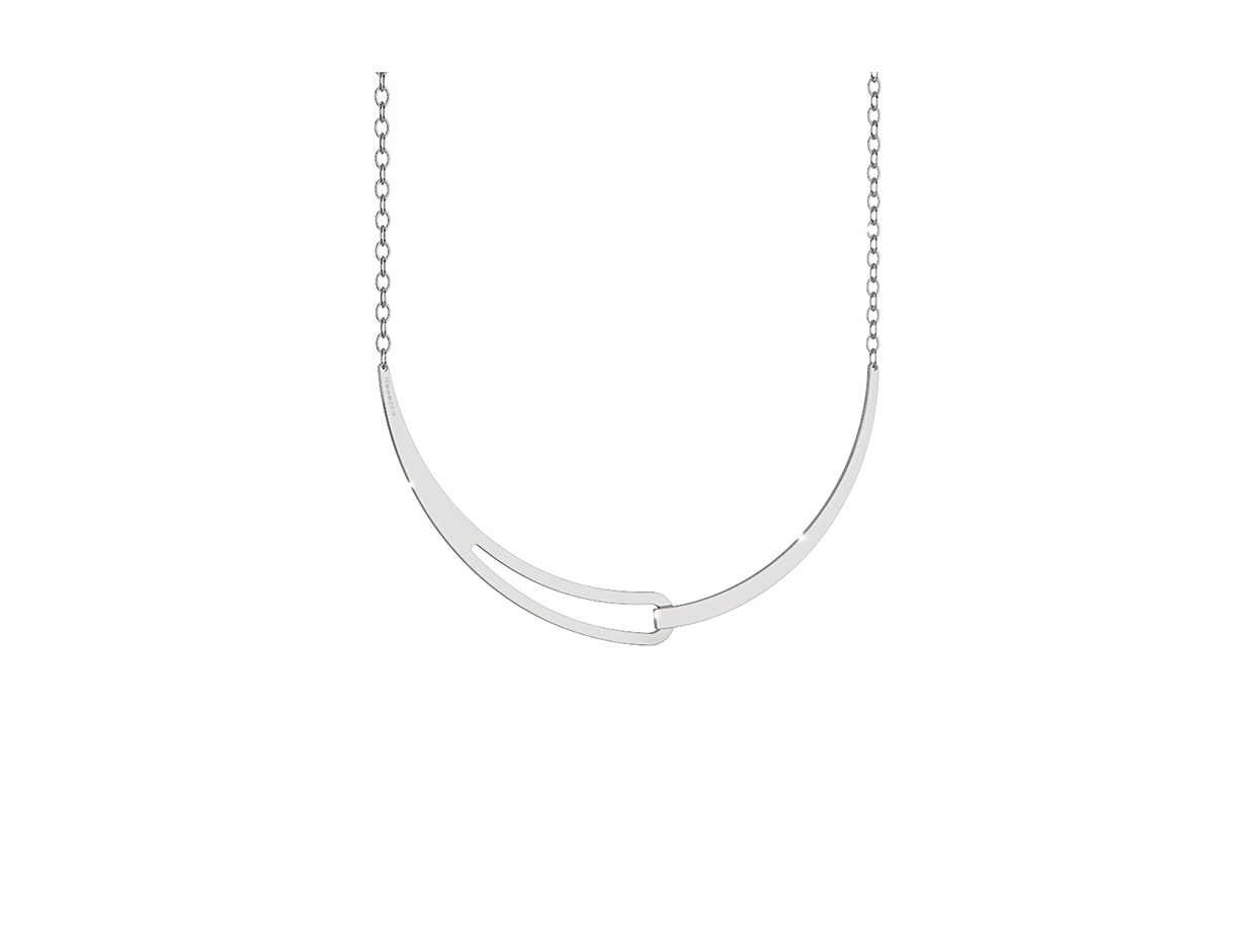 "Image of ""REBECCA Iconic necklace in silver stainless steel, BICKBB03"""