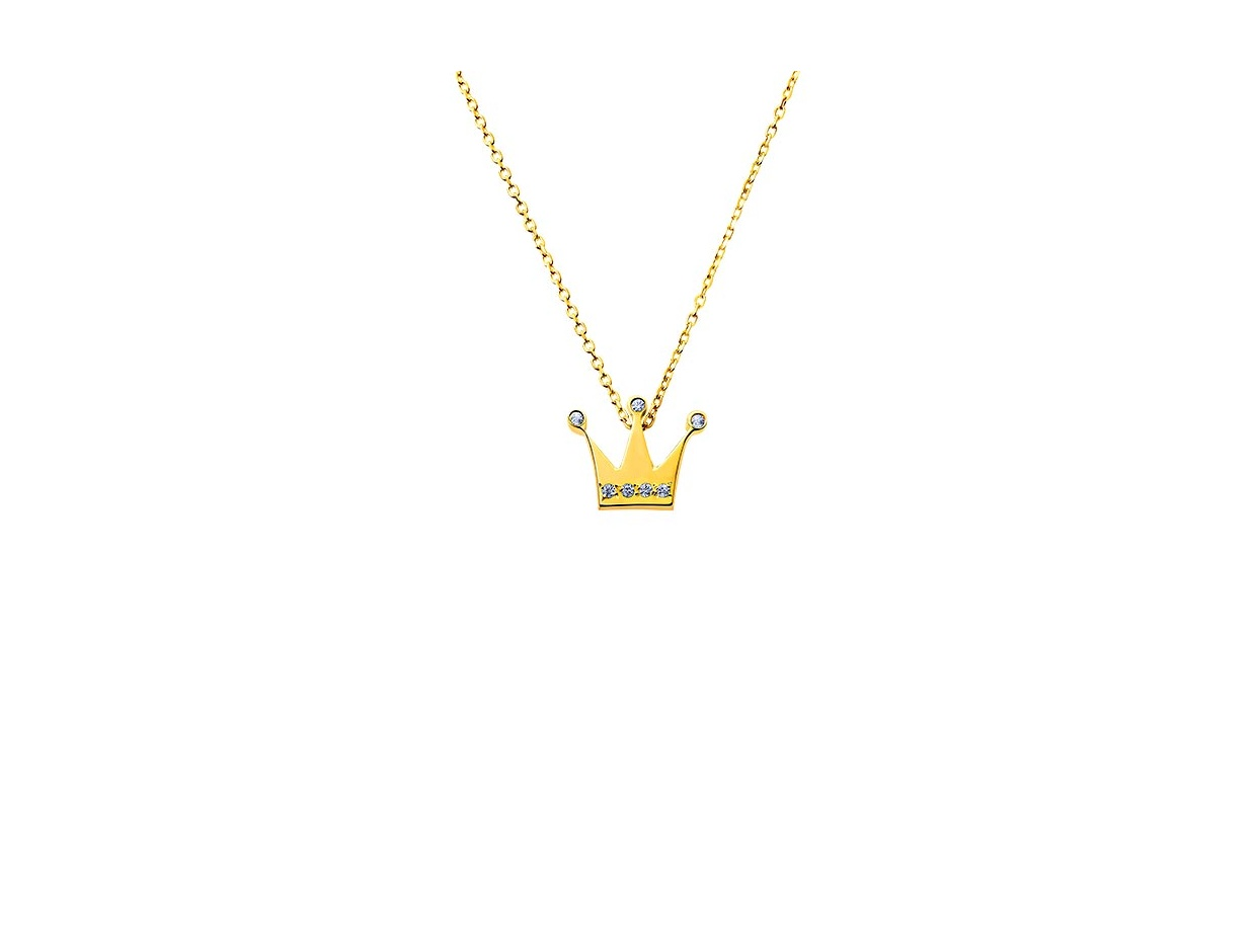 """Image of """"""""Tiny Crown"""" gold necklace K14"""""""