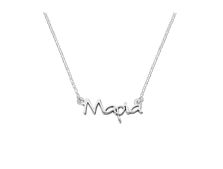 """Image of """"""""Maria"""" white gold custom necklace K14"""""""
