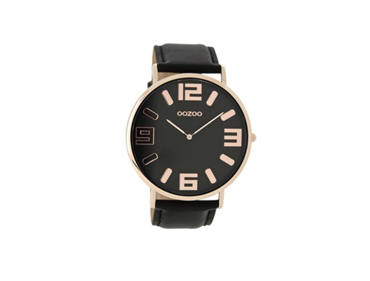 "Image of ""OOZOO Timepieces C8858 Men's Watch with Black Leather Strap"""