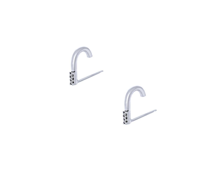 "Image of """"Stone Hooks"" silver suspender earrings"""