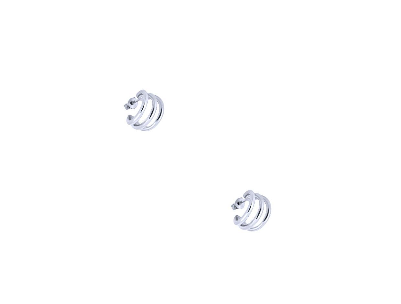 "Image of """"Jolly"" silver hoops earrings"""