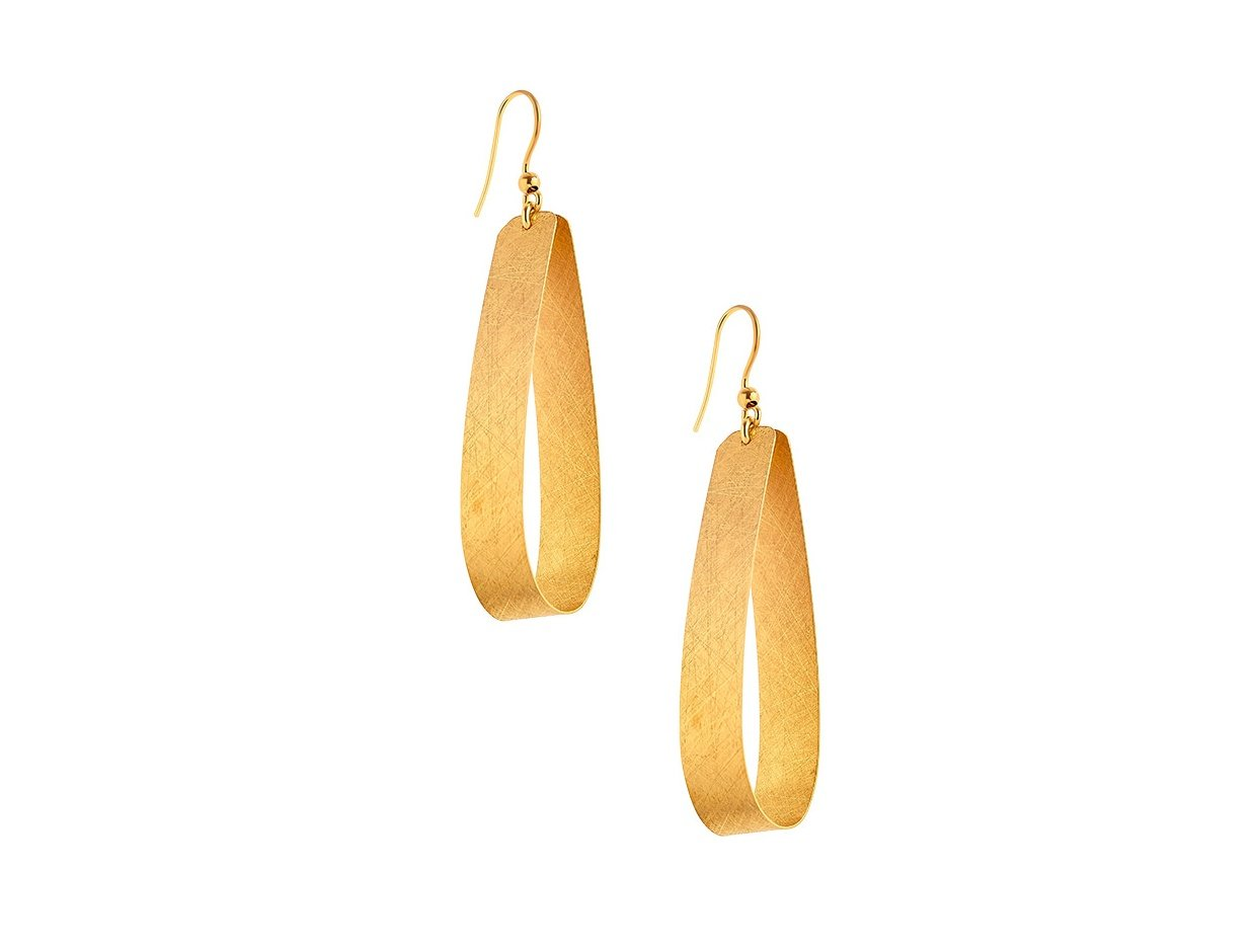 """Image of """"""""Tears of Persephone"""" silver earrings gold plated"""""""