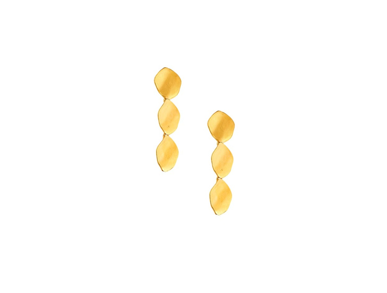 "Image of """"Provocative #2"" silver earrings gold plated"""