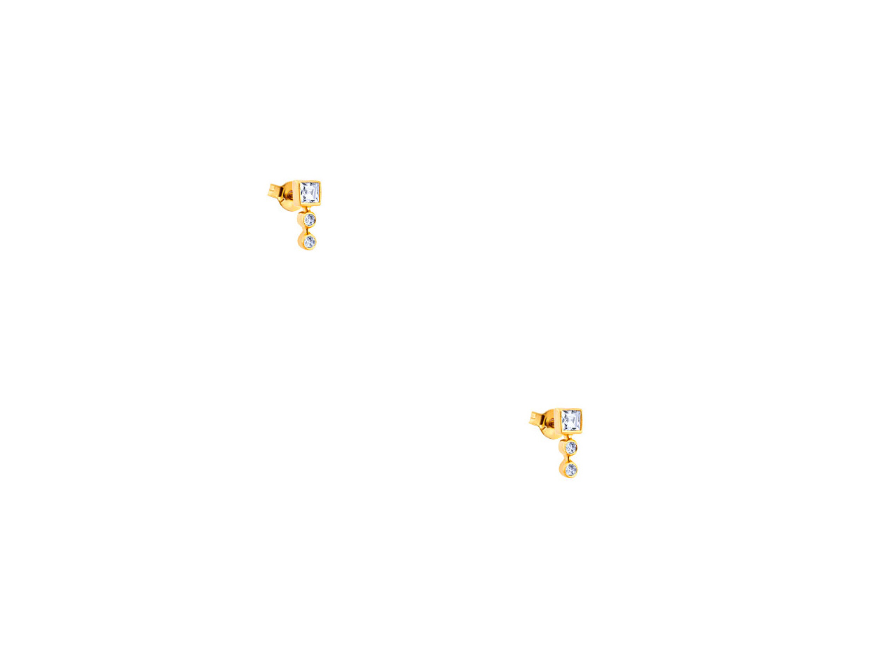 """Image of """"""""Tower"""" silver earrings gold plated"""""""
