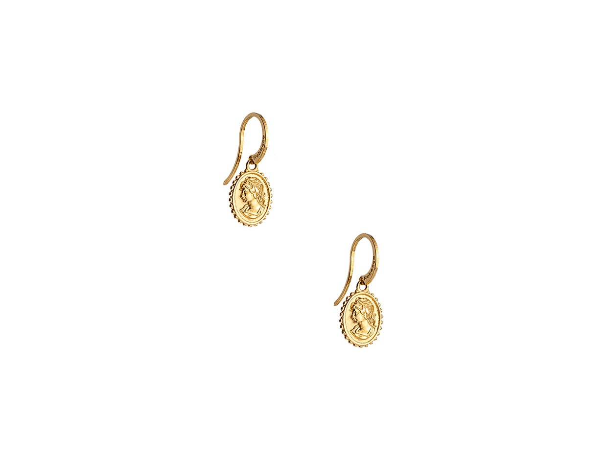 "Image of ""REBECCA Madama earrings in gold stainless steel, BMMOBO04"""