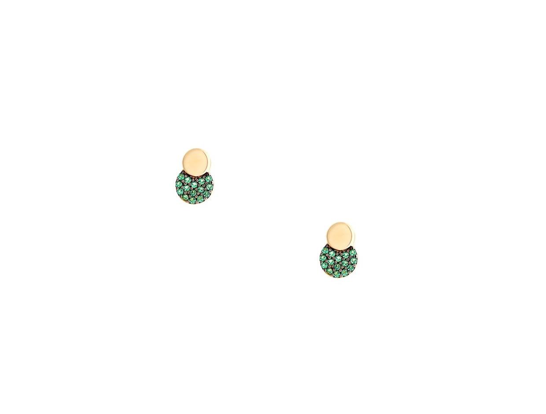 "Image of """"Green Planet"" gold earrings K14"""