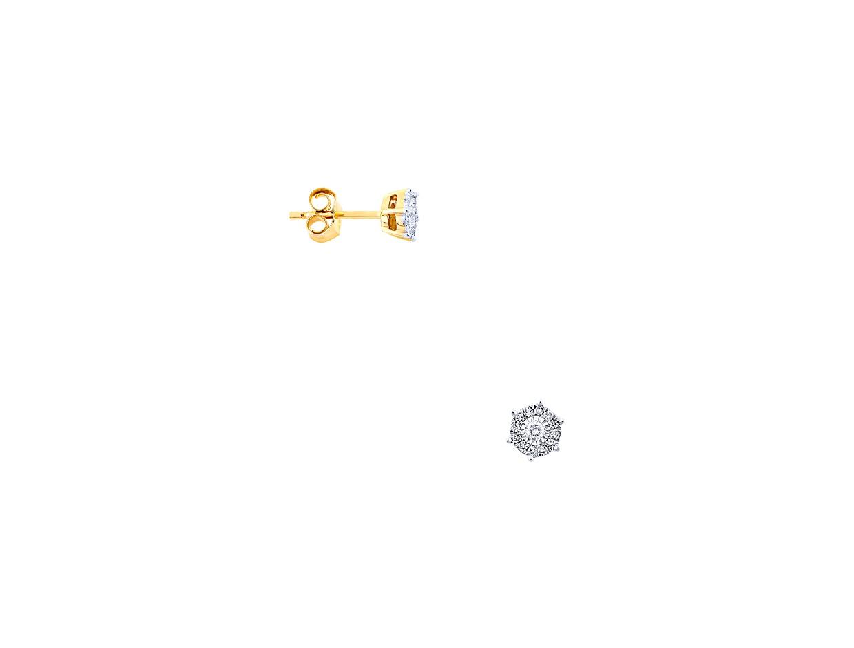 "Image of ""Gold earrings Κ14 with diamonds, BOI13160"""