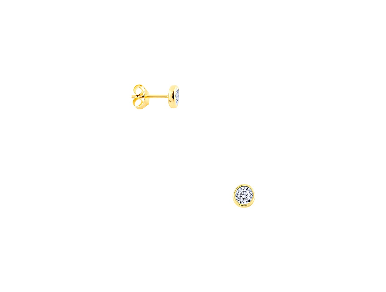 "Image of ""Gold earrings Κ14 with diamonds, BOI10123"""