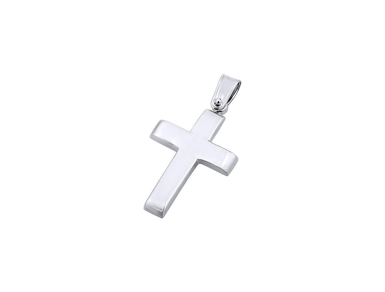 """Εικόνα του """"Λευκόχρυσος ανδρικός σταυρός Κ9, T00819"""""""