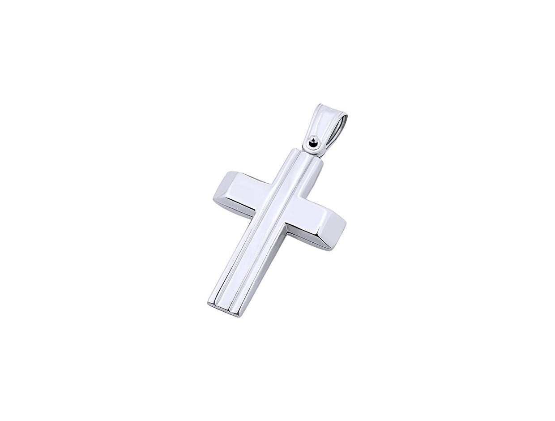 """Εικόνα του """"Λευκόχρυσος ανδρικός σταυρός Κ9, T01219"""""""