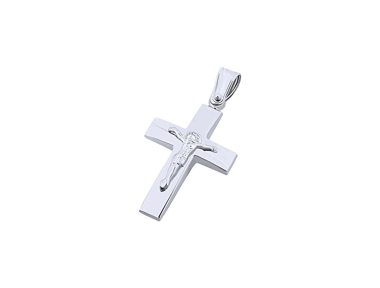 """Εικόνα του """"Λευκόχρυσος ανδρικός σταυρός Κ9, T01719"""""""