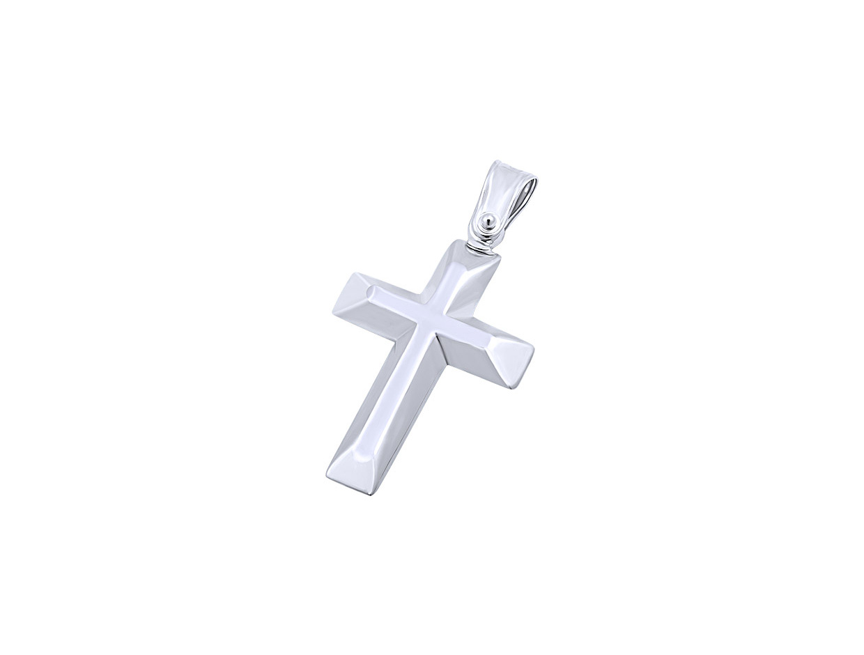 """Εικόνα του """"Λευκόχρυσος ανδρικός σταυρός Κ9, T02019"""""""