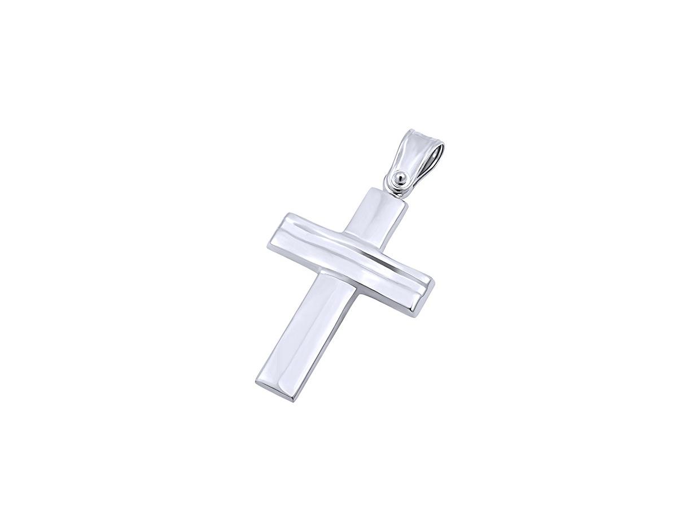 """Εικόνα του """"Λευκόχρυσος ανδρικός σταυρός Κ9, T03219"""""""