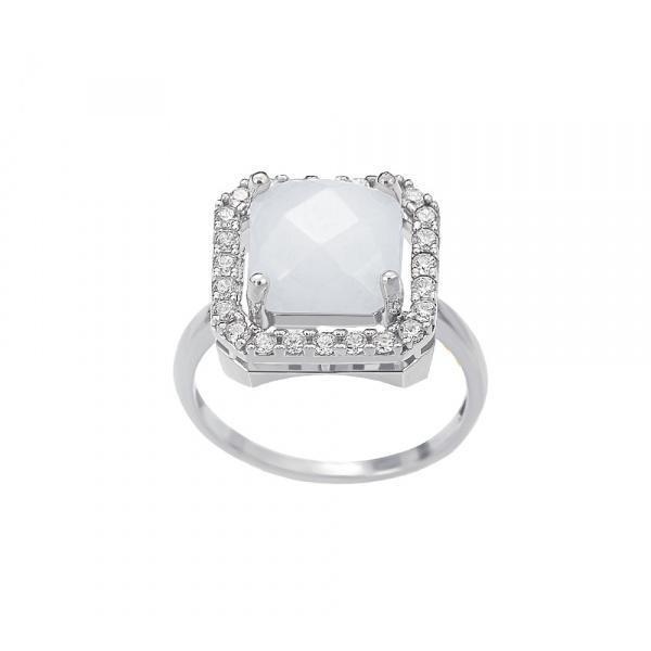 """Square Jade"" ring"