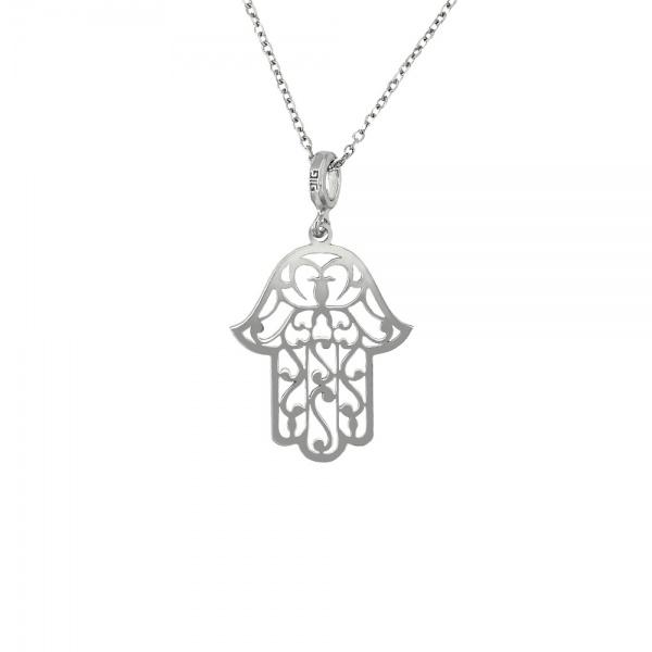 """""""Hamsa hand"""" silver 925 pendant"""