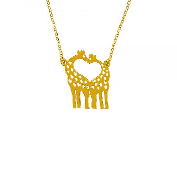 Giraffe silver necklace
