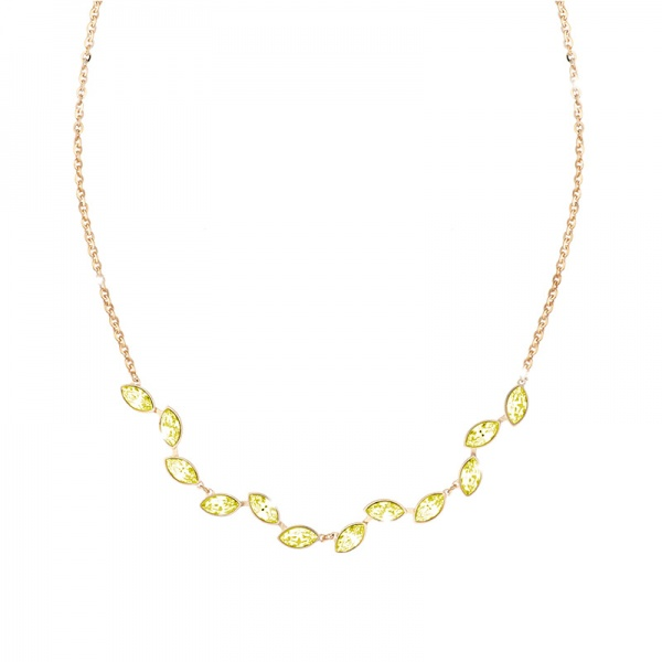 REBECCA Lumière necklace in gold stainless steel, BLMKOO06