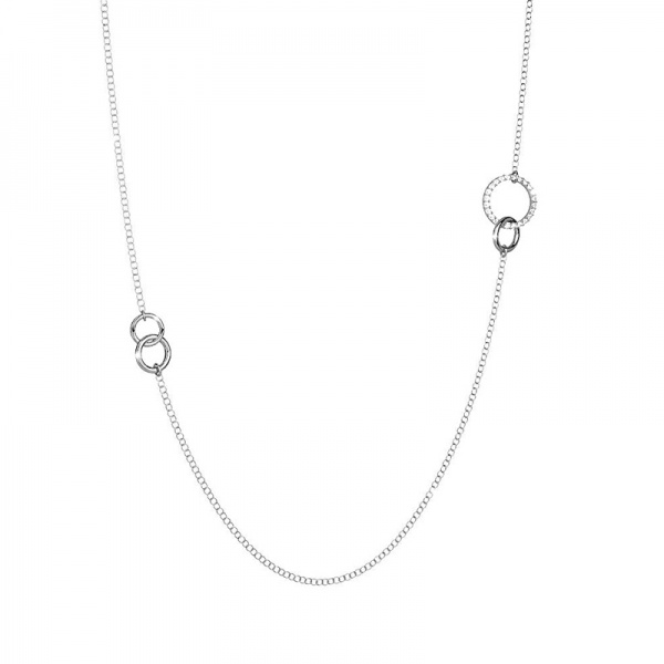 REBECCA Aria necklace in stainless steel, 432BARKB