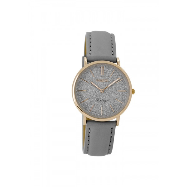 OOZOO Vintage C8831 Women's Watch with Grey Leather Strap
