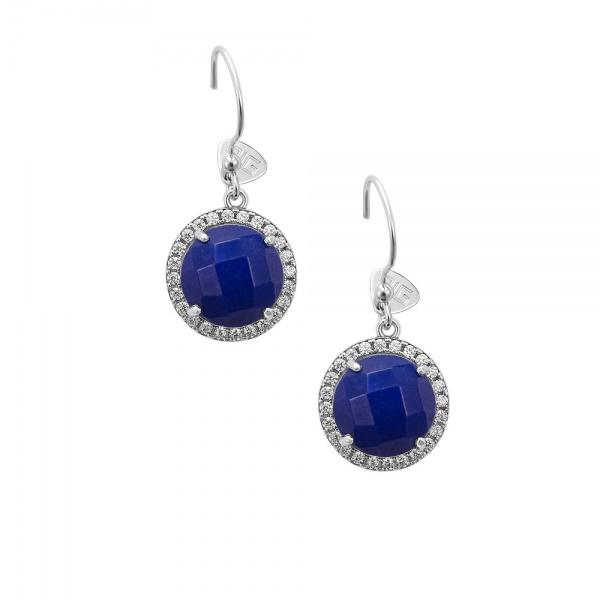 """Round Blue"" earrings"