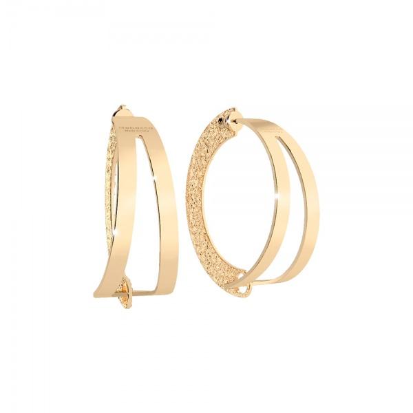 REBECCA Iconic hoop earrings in stainless steel, 432BICOB