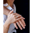 """Image of """"""""Mrs Bond"""" silver ring gold plated"""""""