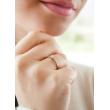 "Image of """"Eternity Premium 021"" white gold engagement ring K18 with VS1 diamond"""