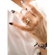 """Image of """"""""Artifact"""" silver ring rose gold plated"""""""