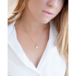 """Image of """"""""Pearly Crown"""" silver necklace gold plated"""""""