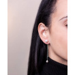 "Image of """"Extravagant"" silver earjackets earrings"""