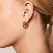 "Image of ""PDPAOLA ""Solstice"" silver hoop earrings gold plated"""